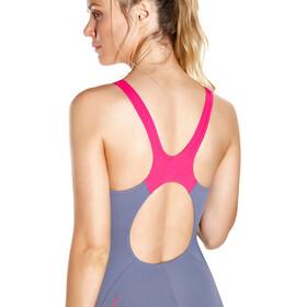 speedo Boom Splice Muscleback Swimsuit Women Vita Grey/Electric Pink